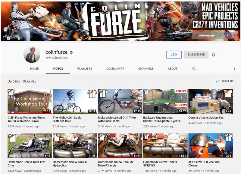 Colin Furze YouTube