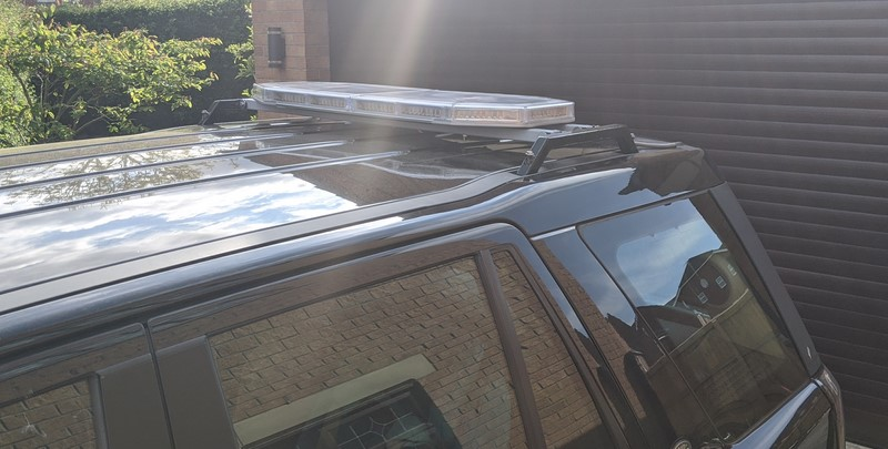 Lightbar rack finished and installed