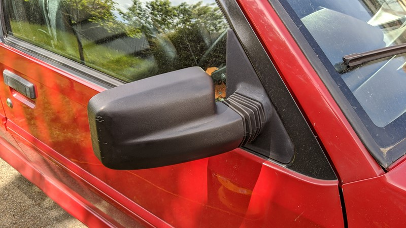 Restoring the Citroën BX mirrors with heat