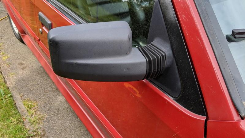 Drivers Mirror Definitely Grey- Before heat treatment
