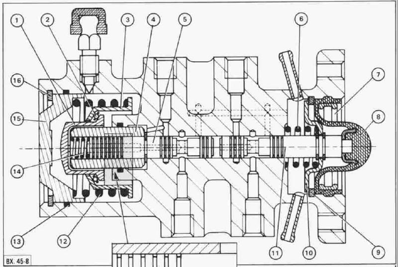 Brake Control Valve Schematic - Citroen XB 453-4