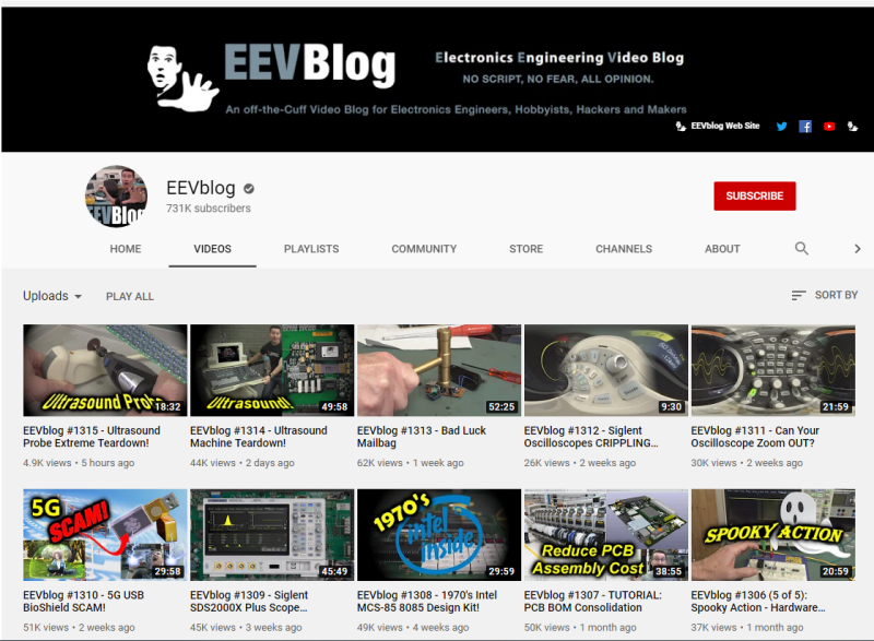 EEVBlog YouTube Channel