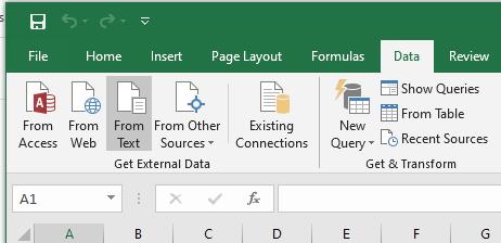 Excel external data controls