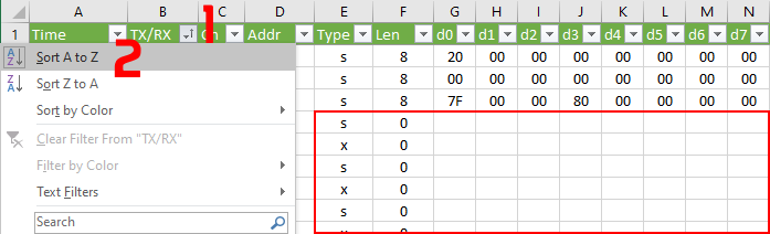 Filtering out unwanted 'ghost' messages in Excel