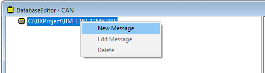 Create a new message in the database