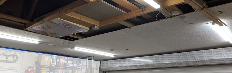 Half way (ish) through the ceiling installation