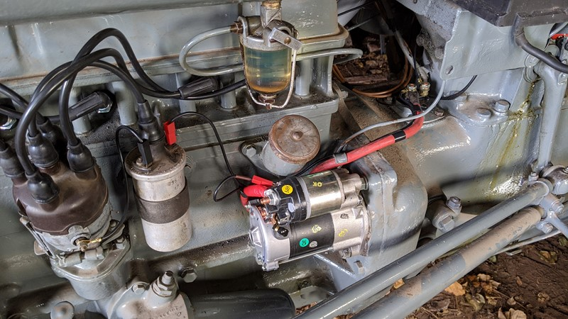 Reliable wiring for a reliable starter motor