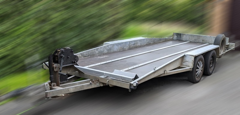Heavy duty car trailer for collecting a little Fiat x19