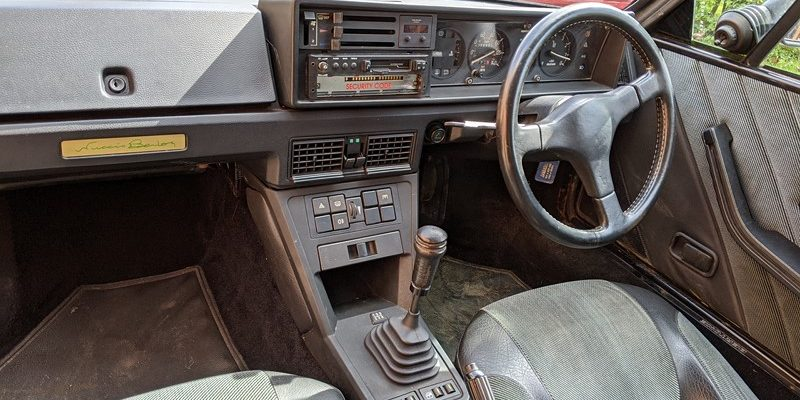 Fiat X1/9 interior