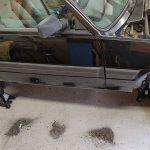 rust piles around the FiatX1/9