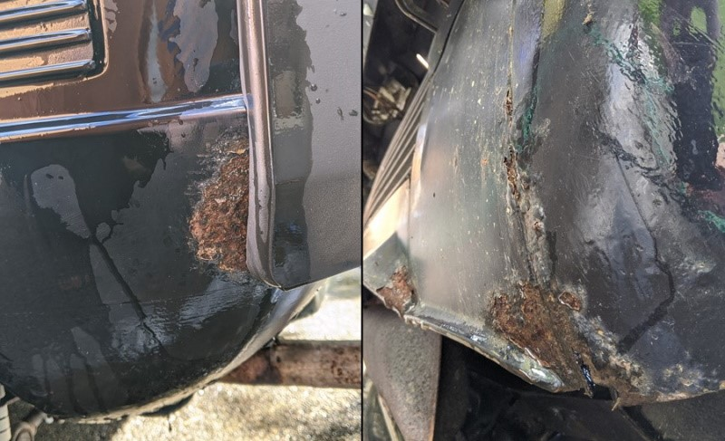 Rear end body corrosion