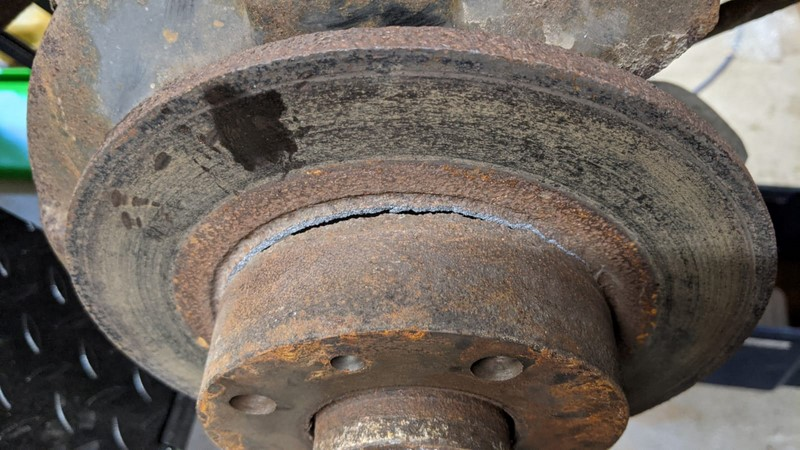 Front brake disc failure