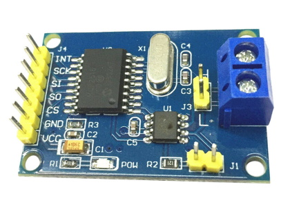TJA1050 CAN Bus shield with SPI interface