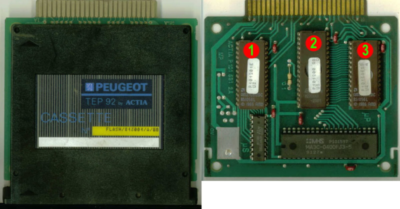 Peugeot TEP92 Data Cartridge with 3 EPROMS