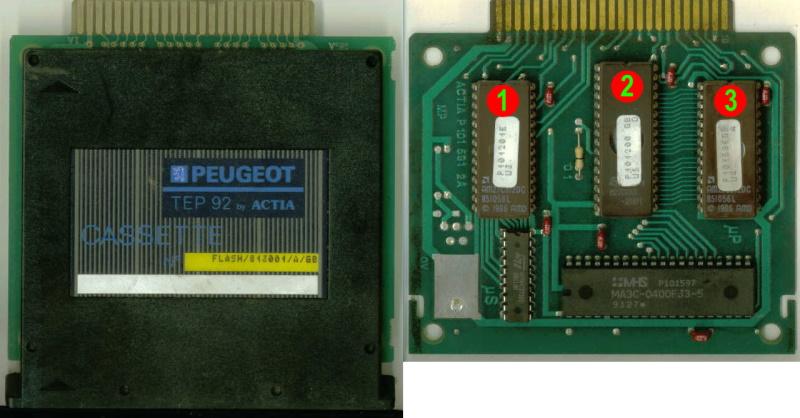 Peugeot TEP92 Data Cartridge with 3 EPROMS