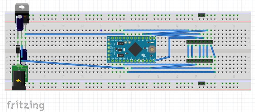 Fritzing hardware layout