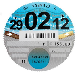 The last paper tax disc for the BX