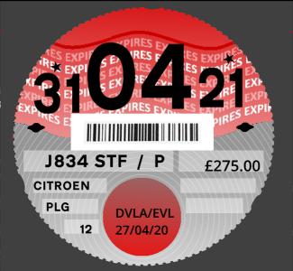 2020 paper tax disc design, drawn from scratch