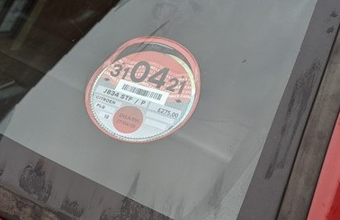 This years paper tax disc trophy displayed for all to see