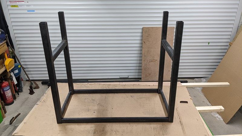 Almost welded up workbench frame