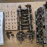 cylinder head stripped down