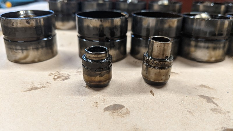Gummed up and 'cleaned' hydraulic tappet valves