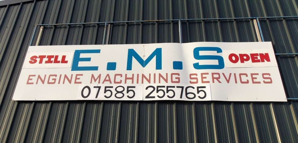 Blatant advert for Engine Machine Services in Crewe