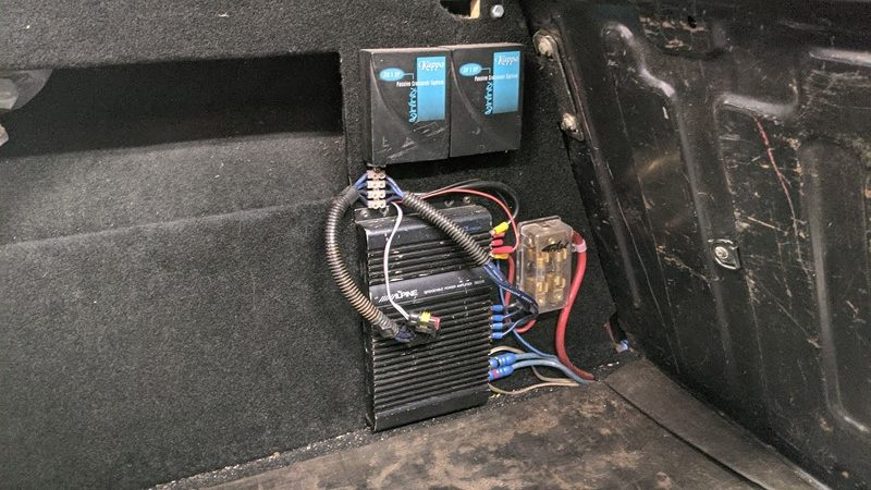 The original amplifier, first installed around 2005
