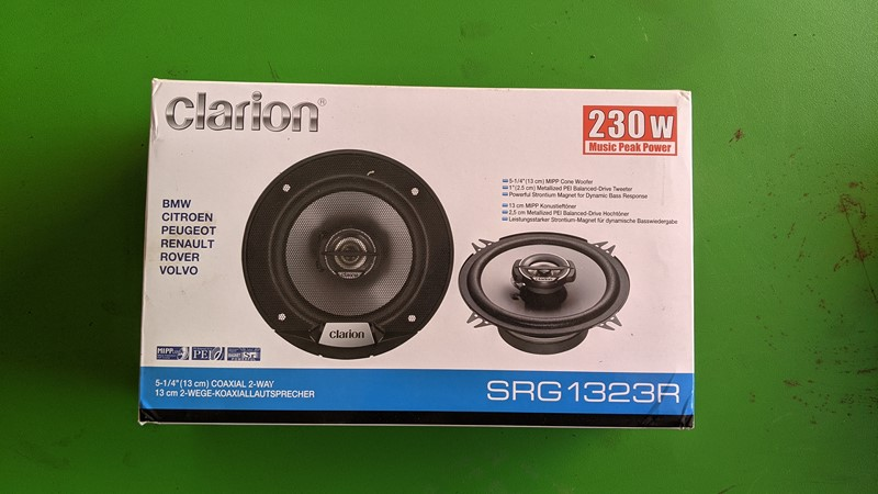 Clarion SRG1323R speaker upgrade to complement the FB275BT head unit