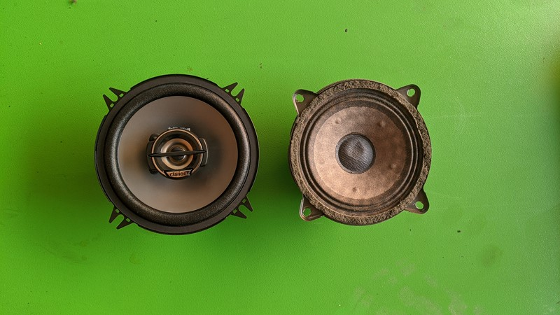 30 year old Philips speaker next to is Clarion upgrade
