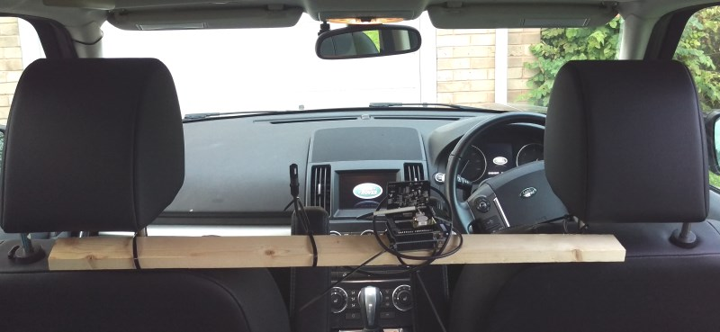 Amphenol Air Quality Kit lashed up in the Freelander