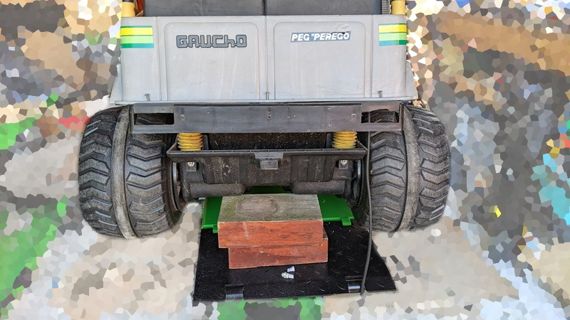 The Peg Perego Gaucho the with the rear bumper off
