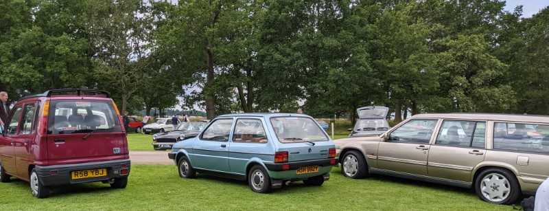 Austin Metro, seldom seen, but I found two at the show.