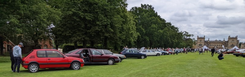 Glorious line up in front of Grimsthorpe Castle