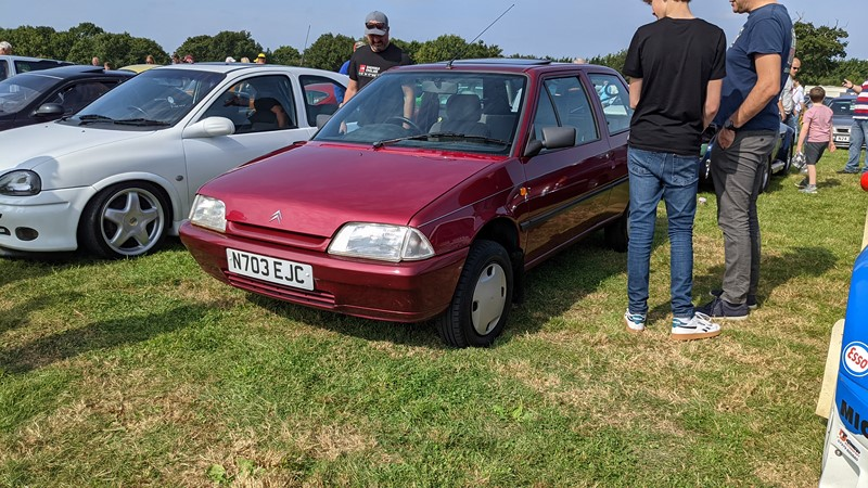 Immaculate Citroen AX at the Retro Works Show